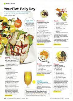 Flat Belly Diet - muesli, turkey sandwich and shrimp rice | Women's Health Magazine