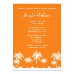 See MoreTropical Palm Tree Orange Bridal Shower Invitationin each seller & make purchase online for cheap. Choose the best price and best promotion as you thing Secure Checkout you can trust Buy best