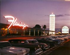 Flamingo Hotel was opened Dec. 26, 1946, operated by Bugsey Siegel until he was killed by his New York mob pals in July 1947. Purchased by the Hilton Hotel Corporation in 1971, who had a consulting contract with Mob lawyer Sidney Korshak. (That association prevented the Hilton Hotels from opening a casino in Atlantic City.)