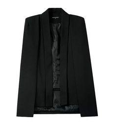 Elegant High-Quality Split-Sleeve Solid Colored Cape Jacket 2 Colors S-L