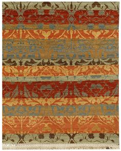 RugStudio presents Jaipur Rugs Vestiges Striae VT10 Tobacco Hand-Knotted, Good Quality Area Rug