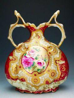 Old Noritake 1891 Vintage Display, Vintage Vases, Vintage Tea, Porcelain Ceramics, China Porcelain, Painted Porcelain, Japanese Porcelain, Glass Ceramic, Antique China