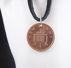 England coin necklace - https://www.etsy.com/listing/222244611/england-coin-necklace-1-penny-coin