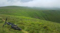 Desolate Welsh hillside