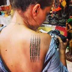 """Andreja Jernejčič on Instagram: """"So excited about my first #sakyant with @globe_trottah! Amazing experience! #ink #tatto #amazingthailand"""""""