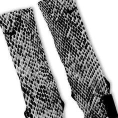 Grey Snake Skin Custom Nike Elite Socks – Fresh Elites
