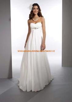 Romantische Brautkleider günstig aus Chiffon und Satin Kolumne
