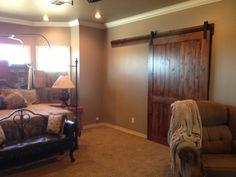 My beautiful master bedroom barn door.  We LOVE it.