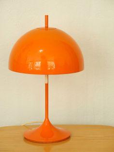 Original 60s orange table lamp new by RetroRaum on Etsy, €145.00