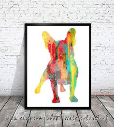 French Bulldog 2 Watercolor Print French Bulldog Art Home