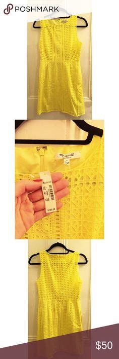 MADEWELL Sunshine Yellow Lace Detailed Dress!!! Brand new with tags, Lace detailed yellow dress from MADEWELL!!! Madewell Dresses
