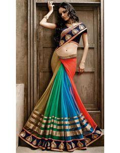 Exquisite Multicolor Saree