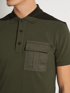 4c79cb26a34c Bi-colour flapped-pocket polo shirt | Valentino | MATCHESFASHION.COM US  Espresso