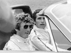 Jochen Rindt and Jacky Ickx at Hockenheim Le Mans, F1 Motor, Jochen Rindt, Gp F1, Lotus F1, Gilles Villeneuve, Porsche 914, Racing Events, Vintage Cars