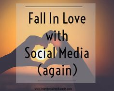 Falling back in love with social media (again) - Do you get freaked out when no one Likes your latest blog link that you post up in your Facebook group? Or no one is repinning that branded image quote that took you 2 hours to make? I get it. Been there, done that, felt that feeling like I'm invisible. Here's what you can to do get back that loving feeling with social media.