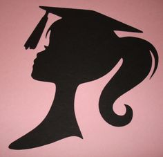 Graduation Girl Silhouette Die Cut Paper Cuttings 9 inch tall Wall Backdrop…