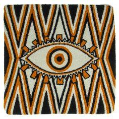 40cm x 40cm 20 Degrees Celsius, Museum, Beaded Bags, Evil Eye, Envy, Cushions, Tapestry, Pattern, Spanish