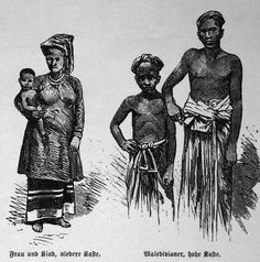 lower caste people in Male Maldives in lithograph from photo by C. Male Maldives, Historia Reiss, Diego Garcia, Afghanistan, Sri Lanka, Medieval, Folk, Asia, Culture