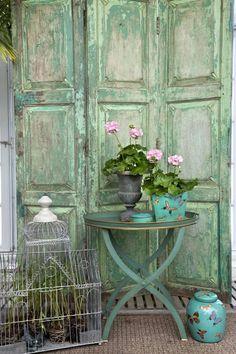 great patina in hues of aqua - simply beautiful