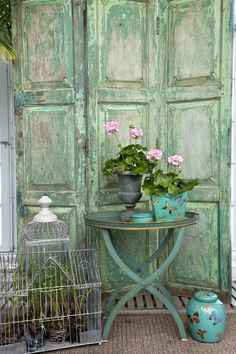 great patina in hues of aqua - simply beautiful