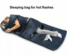Sleeping bag for hot flashes