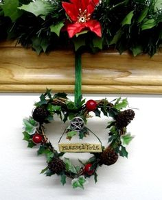 Mouse over image to zoom    Sell one like this  Pagan Wiccan Yule Vine Heart & Pentacle Wreath / Decoration. Handmade