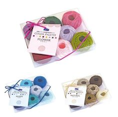 F/S Orimupasu lace yarn set color palette Flower / Marin / Natural  #Orimupasu