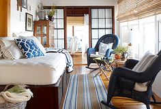 Surrounded by bright blue water, sky-high pine trees, and the picturesque peaks of the Sierra Nevada, Lake Tahoe homes are full of natural inspiration. From lived-in leather armchairs to paintings of sweeping vistas, it's easy to take the look home, all summer long. #teelieturner #onekingslane #teelieturnershoppingnetwork   www.teelieturner.com