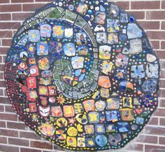 clay tile murals by kids | Mosaics at School