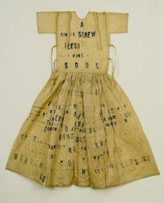George Adams Gallery Lesley Dill Large Poem Dress (A Single Screw) 1993 Más Kasimir Und Karoline, Paper Clothes, Paper Dresses, Barbie Clothes, Fashion Art, Fashion Design, Paper Fashion, Fabric Art, Costume Design
