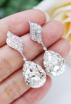 Gorgeous bling earrings | More here: http://mylusciouslife.com/photo-galleries/bling-fling/