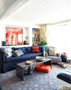 Shop the Room: A Relaxed, Indigo Living Room via @mydomaine