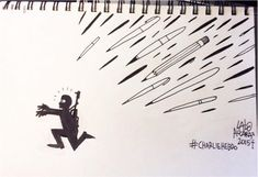 What Cartoonists Around The World Are Drawing In Response To The Charlie Hebdo Attack Fight The Power, Charlie Hebdo, Photo Search, Memes, No Response, Reading, World, Plane, Conversation