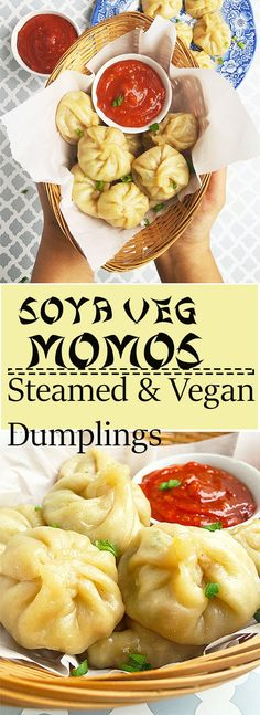 Soya Veg Momos - A steamed dumpling recipe with protein-rich soy granules and vegetables.Learn how to make soya veg momos.
