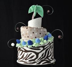 Topsy Turvy Style Diaper Cake (Includes Instructional Video Link)