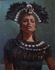 "Saatchi Online Artist Michael Foulkrod; Painting, ""Yasmine#2"" #art"