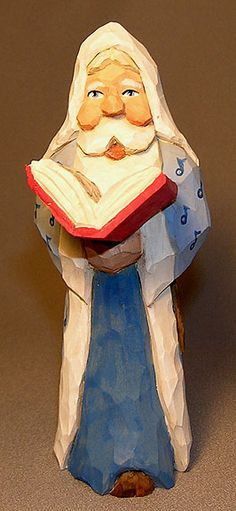 Santa with Blue Note Coat and Song Book $59.00