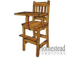 Mission High Chair http://www.homesteadfurnitureonline.com/youth-furniture_mission-high-chair-676.html