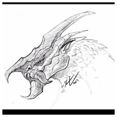 Dragon creature thing sketch before bed. #dragon #sketch #draw #art #illustration #sketching #creaturedesign #conceptart