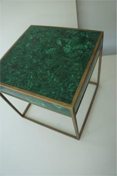 Square side table Malachite, Home Collection