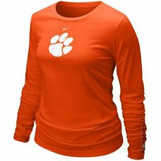 Nike Clemson Tigers Ladies Orange Classic Logo Long Sleeve T-shirt