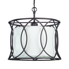 Kitchen Island--2 of these?  Canarm IPL320A01ORB14 Monica Large Pendant, Oil Rubbed Bronze - ATG Stores