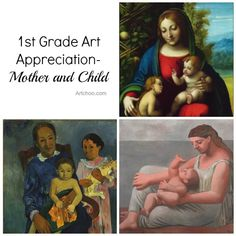Art Appreciation for 1st Graders - Mother and Child • Artchoo.com