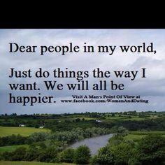 This is true for my world;)