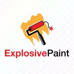 Exclusive Customizable Logo For Sale: Explosive Paint | StockLogos.com