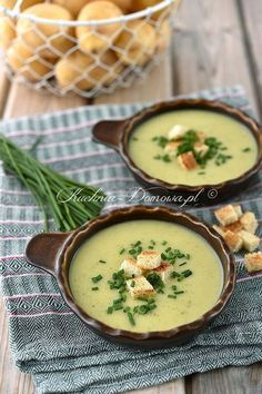 Zupa krem z ziemniaka i cukinii Clean Recipes, Soup Recipes, Vegetarian Recipes, Cooking Recipes, Healthy Recipes, Good Food, Yummy Food, Healthy Cooking, I Foods