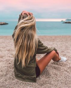 ❁ cheveux blonde /chatain  A la plage  ♡ Angel ♡