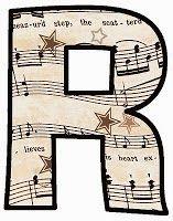 "ArtbyJean - Vintage Sheet Music Alphabet ""R"" Vintage Sheet Music, Vintage Sheets, Make Your Own Card, Music Score, Alphabet And Numbers, Alphabet Letters, Elementary Music, Music Classroom, Lettering Design"