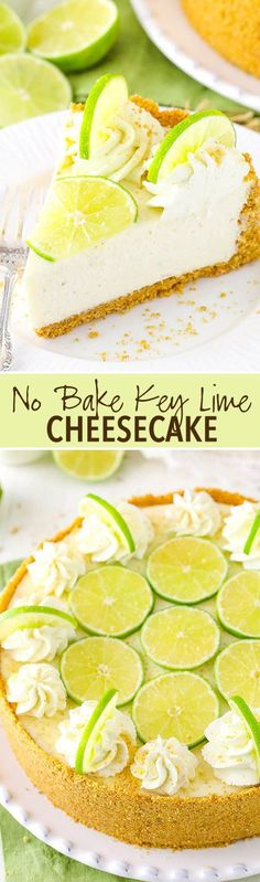 No Bake Key Lime Cheesecake!