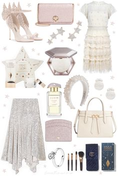 Today's Christmas gift guide is filled with magical glittering products and celestial style picks for the party princesses! Perfect for anyone whose heart beats a little faster at the sight of a little sparkle, glitz and glam. Christmas Gift Guide, Christmas Gifts, Pink Christmas, Estilo Girlie, Winter Princess, Princess Gifts, Glitz And Glam, Rose Gold Glitter, Pink Champagne